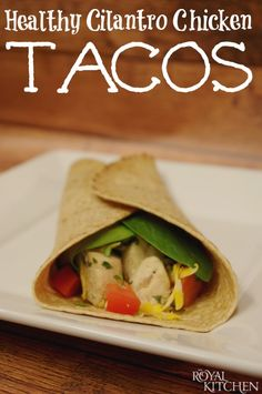 Healthy Cilantro Chicken Tacos. So easy and soon good!