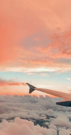 Airplane Wallpaper, Cloud Wallpaper, Summer Wallpaper, Iphone Background Wallpaper, Scenery Wallpaper, Aesthetic Pastel Wallpaper, Aesthetic Backgrounds, Nature Wallpaper, Aesthetic Wallpapers