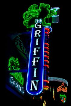 The Griffin Neon Sign, Fremont Street, downtown Las Vegas