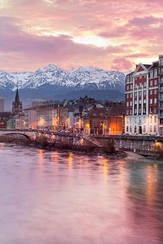 Grenoble at the foot of the French Alps