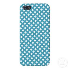 Blue Criss Cross Pattern iPhone 5 Covers