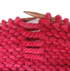 How to fix a dropped garter stitch. Great video!