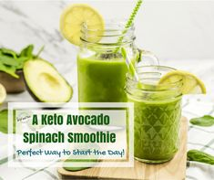 A Keto Avocado Spinach Smoothie is the perfect way to start the day. It is quick to make, packs a nutritional punch, and has enough brain food to get your day started the right way. Avocado Smoothie, Fruit Smoothies, Smoothie Recipes, Pizza Style, Keto Avocado, Veggie Dinner, Ketosis Diet, Exotic Food, Brain Food
