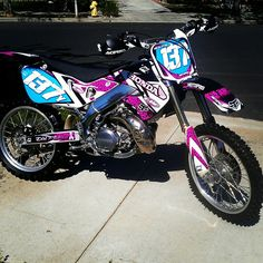 My wonderful Pink cheetah dirtbike graphics :)