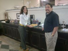 Tonya Martin, Owner of ProSource Plumbing Supply and showroom consultant Roy Walters