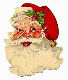 Free Santa Claus Clip Art for Christmas: Free Vintage Santa Clip Art from The Graphics Fairy Christmas Graphics, Christmas Clipart, Christmas Printables, Christmas Recipes, Christmas Ideas, Christmas Decorations, Christmas Stickers, Christmas Things, Holiday Ideas