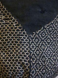 Sri | A Well-Worn Sashiko Stitched Bag: Embroidered Cotton
