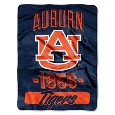 Collegiate Auburn Varsity Raschel Throw