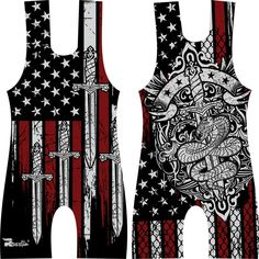 Design an amateur youth wrestling singlet for wide marketing in USA by -Diamond Head-