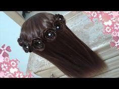 peinados Corona de rosas faciles para cabello largo bonitos y rapidos para niña-s mariposa-s #15 - YouTube