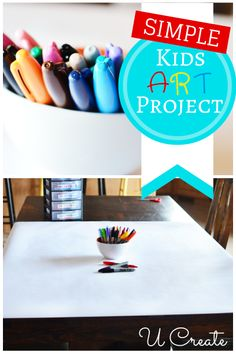 Simplest Kids Art Project...and Boredom Buster! This is incredibly simple but will entertain the kids for a long time and spark creativity!
