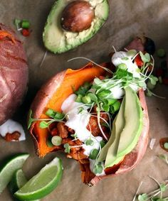 A stuffed sweet potato recipe that's seriously healthy and packed with flavor
