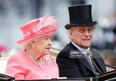 Queen Elizabeth II and Prince Philip, Duke of Edinburgh take part in the Royal Carriage Procession during Day Four of Royal Ascot at Ascot Racecourse on June 17, 2016 in Ascot, England. (Photo by Julian Herbert/Getty Images)