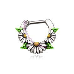 Daisy Septum Clicker Ring