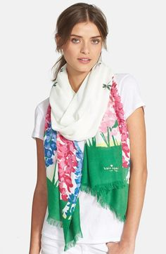 kate spade new york 'delphinium' scarf available at #Nordstrom