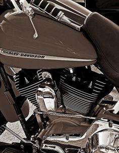 Harley Retro - #harleydavidson #photography #digitalart #motorcycles #cycles Card: $8.20