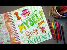 I Will Not Compare Myself to Strangers on the Internet Art Journal page - YouTube frugal crafter