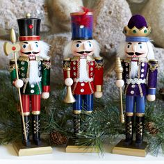 Kurt Adler 12 inch Soldier Nutcracker Set of 3