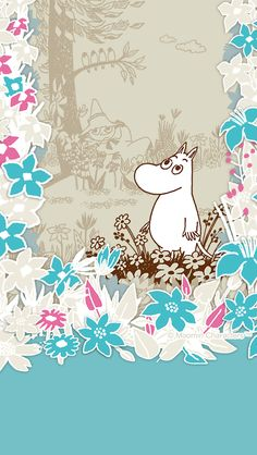 Moomin Wallpaper, Marimekko Wallpaper, Iphone Wallpaper, Character Illustration, Illustration Art, Illustrations, Moomin Valley, Tove Jansson, Cartoon Drawings
