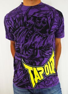 #freeshipping  New!  Tapout Ghost T Shirt Purple  Price $24.00  Sale Price: $19.20   #hiphop #tapout #printed #tapout #urbanclothing #cluburban.com
