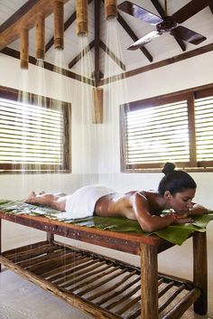 Organic Vichy treatment at UXUA Casa Hotel & Spa. Trancoso, Bahia.
