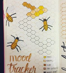 Totally could used for beehive/hexagon/yellow themed spread!