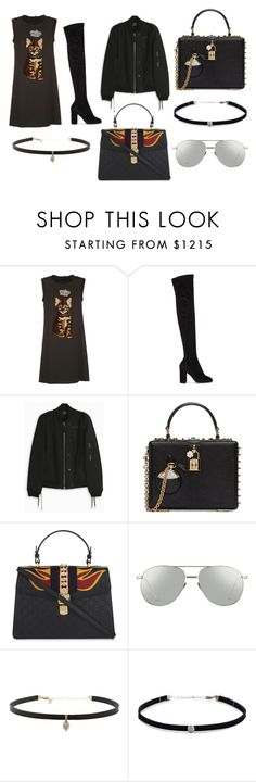 """""""FORWARD"""" by laura-melissa-cortes on Polyvore featuring moda, Dolce&Gabbana, Anthony Vaccarello, Gucci, Linda Farrow y Carbon & Hyde"""