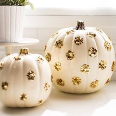 Jolies citrouilles décorées pour Halloween / Beautiful pumpkins decorated for Halloween