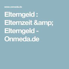 Elterngeld : Elternzeit & Elterngeld - Onmeda.de