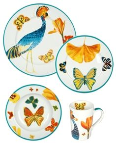 Set of 4 Byzantine Dinner Plates - Lulu DK  I really love these :(.