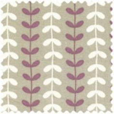grey purple white fabric. decor weight  cute for pillows on a white sofa
