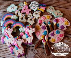 Colorful 4th Birthday Set   Cookie Connection