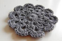 Crochet Coaster - Free Pattern | JJCrochet | JJCrochet's Blog