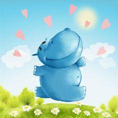 Happy Hippo on Behance