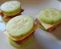 Cucumber sandwiches - no bread!