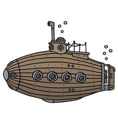 Old wooden submarine vector Fish Background, Underwater Background, Cartoon Background, Ship Vector, Fish Vector, Vector Art, Underwater Cartoon, Underwater Animals, Castle Cartoon