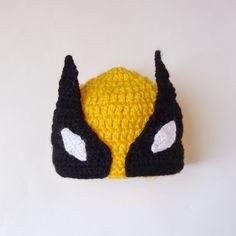 Wolverine Marvel Hat, Wolverine Beanie Mask- Superhero Hat  Newborn Child Teen  Adult  X-Men - Halloween / Cosplay / Baby Shower Gift by KernelCrafts on Etsy