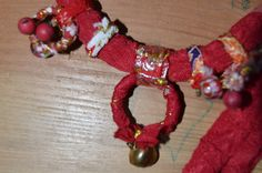 Fabric handmade necklace Gipsy tribal natural jewelry. by HANUTALE