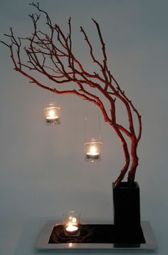 gorgeous display idea...silver for the holidays