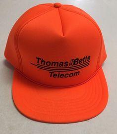 Vtg Thomas & Betts Telecom Trucker Hat Hunting Cap Memphis TN Communications #TheSportsman #Trucker