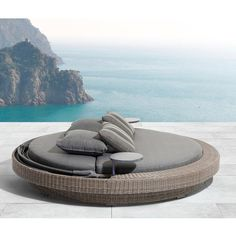 Sarasota Patio Daybed with Cushions Daybed Canopy, Patio Daybed, Outdoor Daybed, Outdoor Sofas, Pool Furniture, Outdoor Furniture, Outdoor Decor, Modern Entrance Door, Backyard Pool Designs