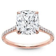 This is the most perfect ring I've ever seen (*cough cough Kyle) Rose gold cushion cut