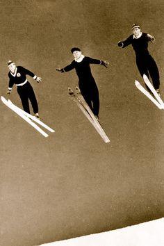 for the walls Ski Vintage, Vintage Ski Posters, Vintage Winter, Vintage Style, Cross Country, Snowboarding, Skiing, Vintage Photos, Old Photos