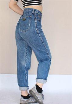 Vintage+80's+Wrangler+High+Waist+Mom+Jeans
