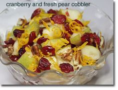 Cranberry and Fresh Pear Cobbler