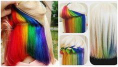 Hidden rainbow hair gives you the option to cover it, or flaunt it.