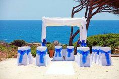 Blue Beach wedding Ceremony Algarve Portugal by Algarve Wedding Planners