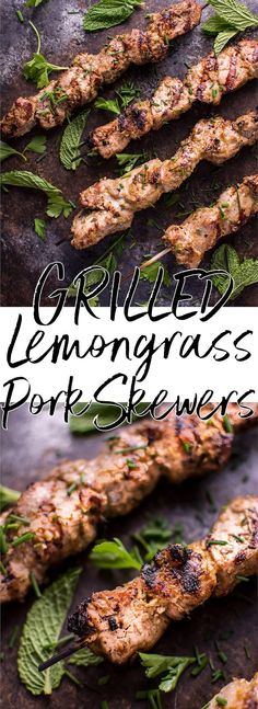 These Vietnamese lemongrass grilled pork tenderloin skewers are an easy dish that will remind you of your favorite Vietnamese restaurant! #grilledpork #grilling #BBQrecipe #Vietnameserecipe