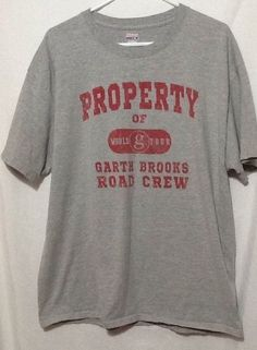 0ee8ad5a mens Hanes Beefy tshirt sz XL Garth Brooks road crew Garth Brooks, Cool  Shirts