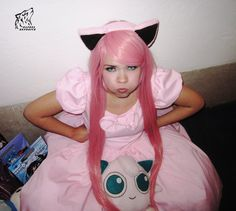 Angry Jigglypuff by Zafrel Theatre Costumes, Cool Costumes, Halloween Costumes, Party Costumes, Halloween Ideas, Costume Ideas, Pokemon Halloween, Pokemon Party, Pokemon Costumes